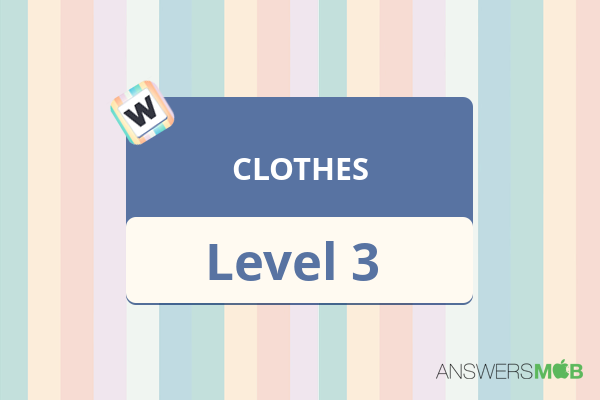 Word Journey CLOTHES Level 3