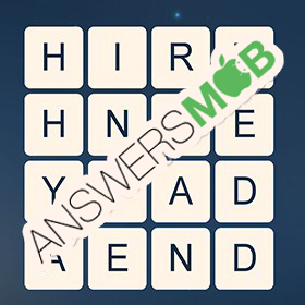 Answer for Word Cubes Dragonfly Level 16