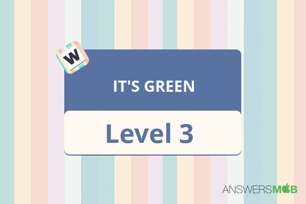 Word Journey IT'S GREEN Level 3