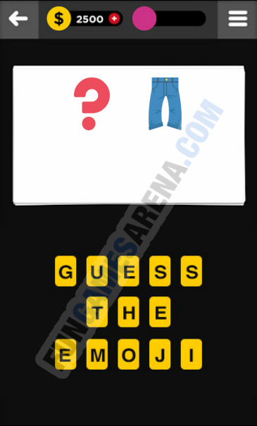 Guess The Emoji CLOTHING & ACCESSORIES - 9 Answer
