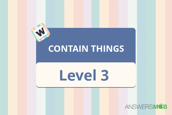 Word Journey CONTAIN THINGS Level 3