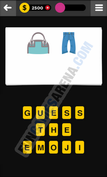 Guess The Emoji CLOTHING & ACCESSORIES - 5 Answer