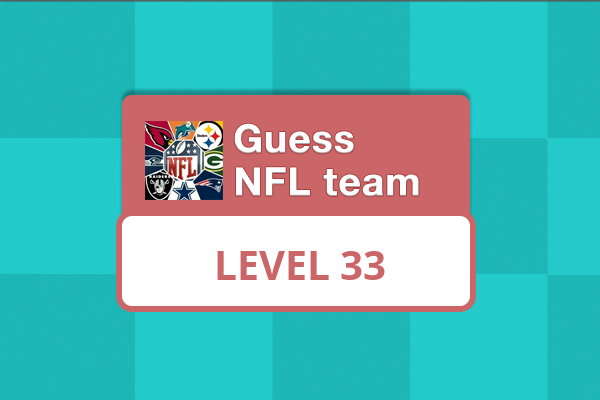 Guess NFL Team Level 33 Answer