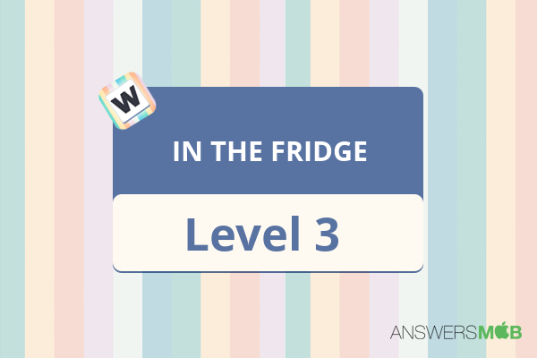 Word Journey IN THE FRIDGE Level 3