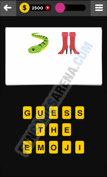 Guess The Emoji CLOTHING & ACCESSORIES - 4 Answer