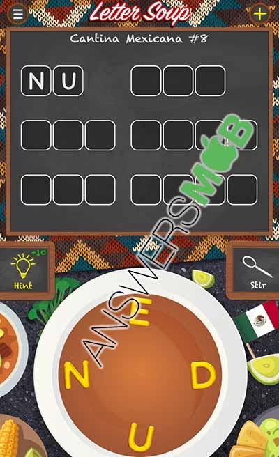 Letter Soup Cafe Cantina Mexicana Level 8 Answer