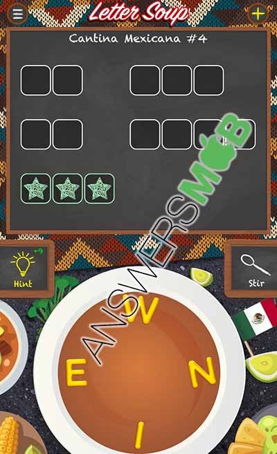 Letter Soup Cafe Cantina Mexicana Level 4 Answer