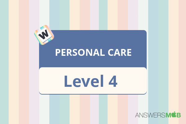 Word Journey PERSONAL CARE Level 4