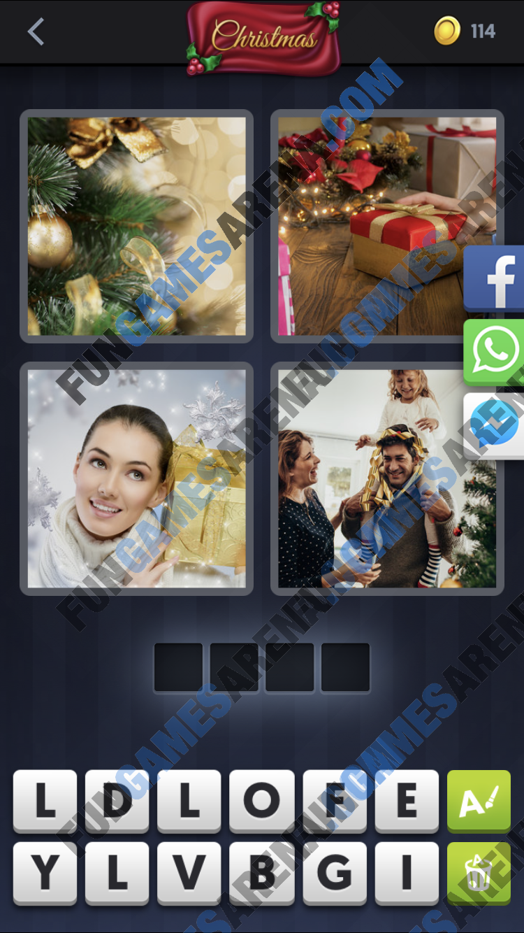 4 Pics 1 Word December 25, 2018 Answer