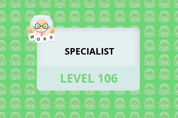WordWhizzle Search Specialist Level 106 Answer