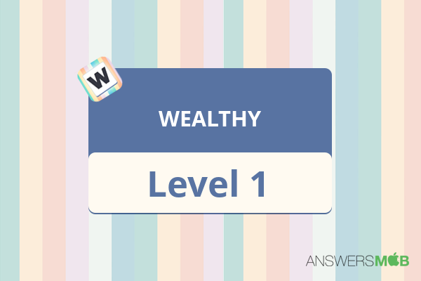 Word Journey WEALTHY Level 1