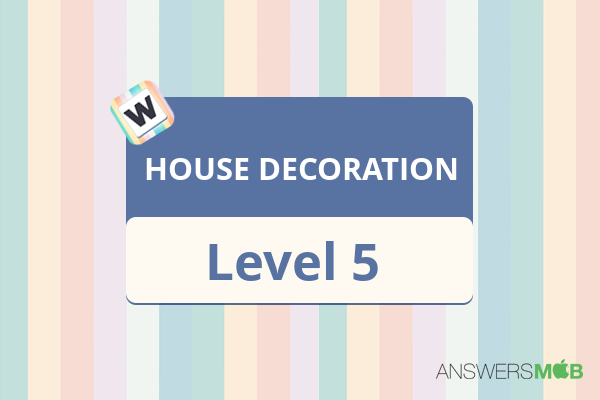Word Journey HOUSE DECORATION Level 5