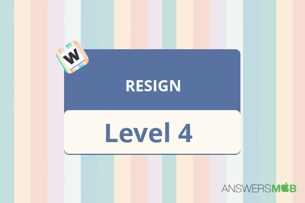 Word Journey RESIGN Level 4