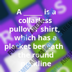 A ______ is a collarless pullover shirt, which has a placket ...