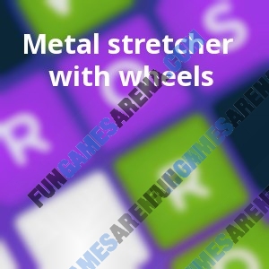 Metal stretcher with wheels