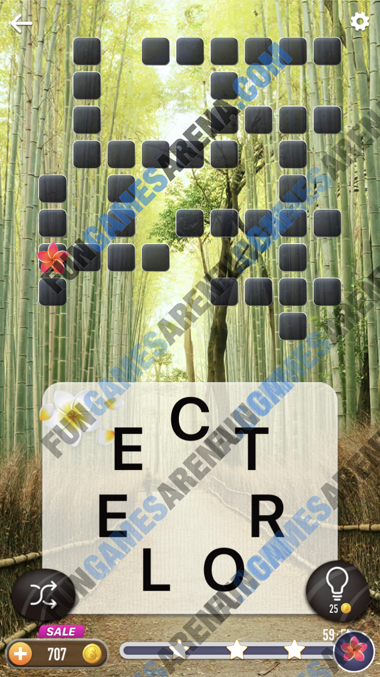 Word Crossy Daily Challenge December 31, 2017 Answers