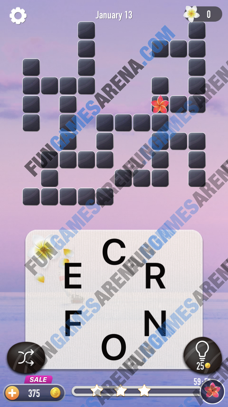 Word Puzzle - Connect Words January 13, 2018 Answer