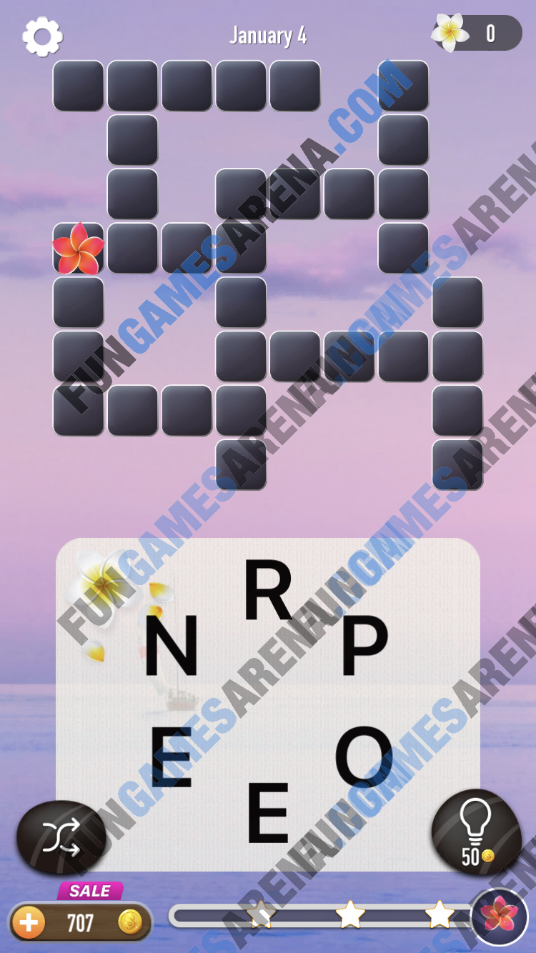 Word Puzzle - Connect Words January 4, 2018 Answer