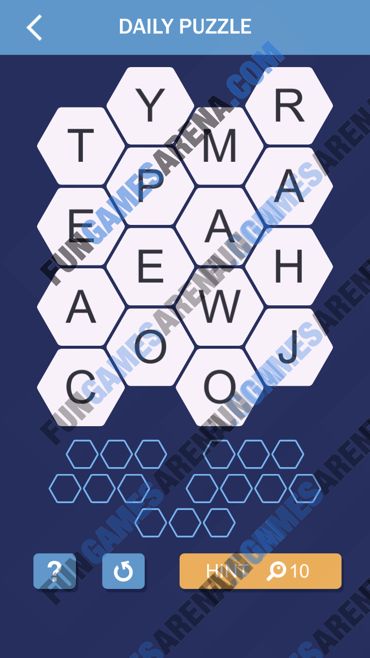 Word Spark Hexa March 9, 2018 Answer