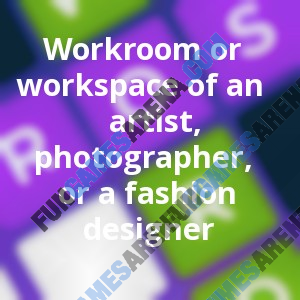 Workroom Or Workspace Of An Artist Photographer Or A Fashion Designer Fungamesarena Com