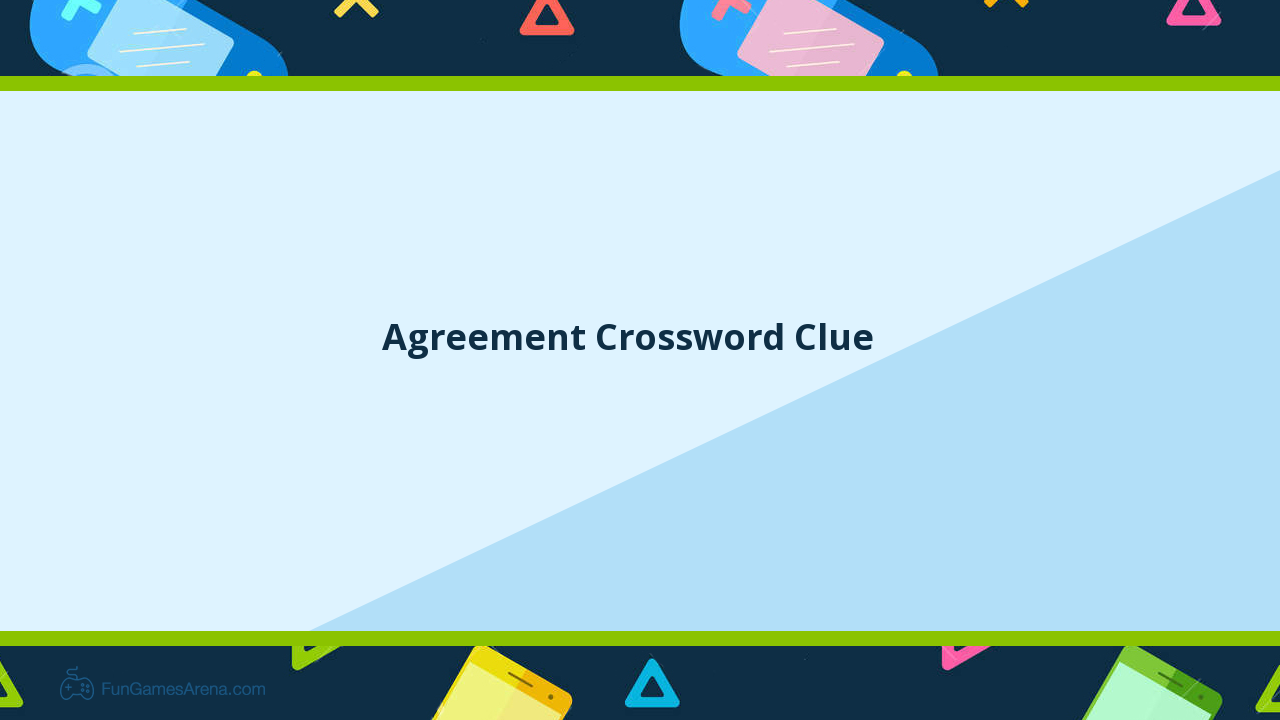 Image Result For Crossword Clue Formal Agreement