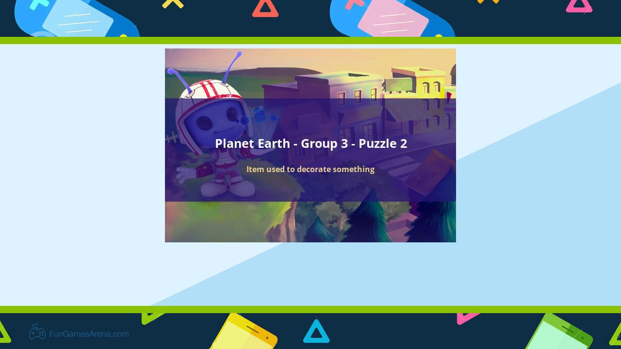 Codycross Planet Earth Item Used To Decorate Something